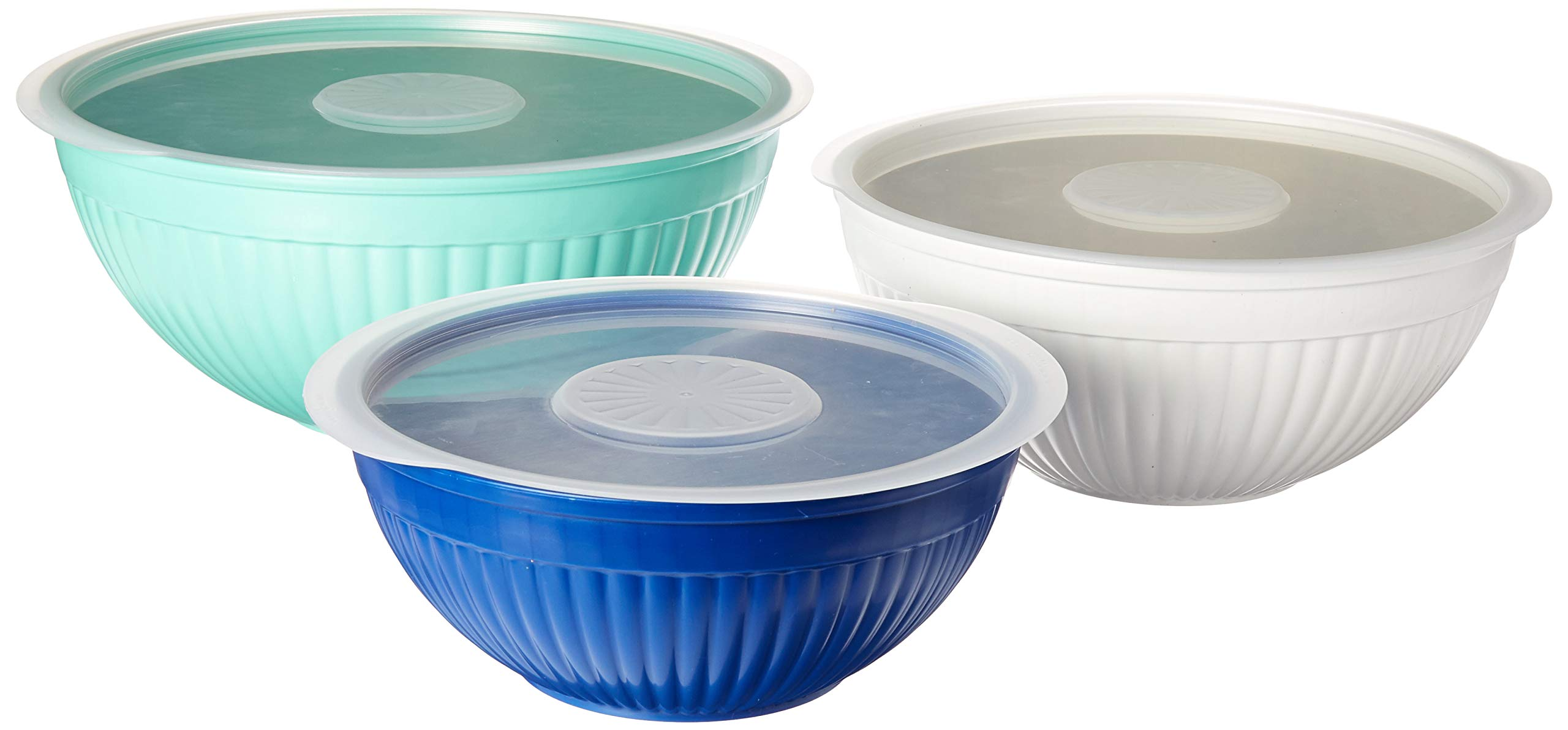Nordic Ware 69506 Covered Bowl Set, 6-pc, Set of 6, Coastal Colors