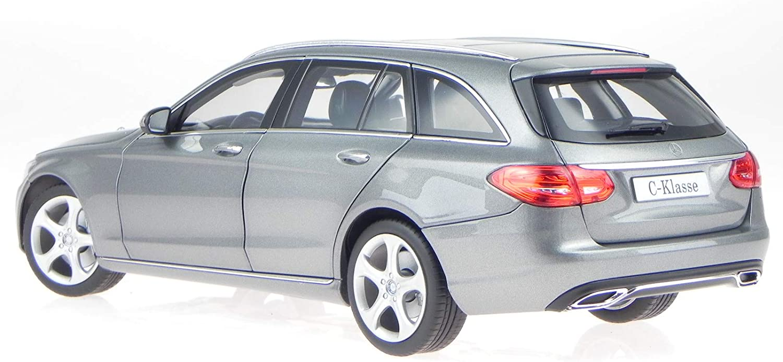 Norev Mercedes S205 C-Klasse T-Modell Exclusive Silber Modellauto 1:18
