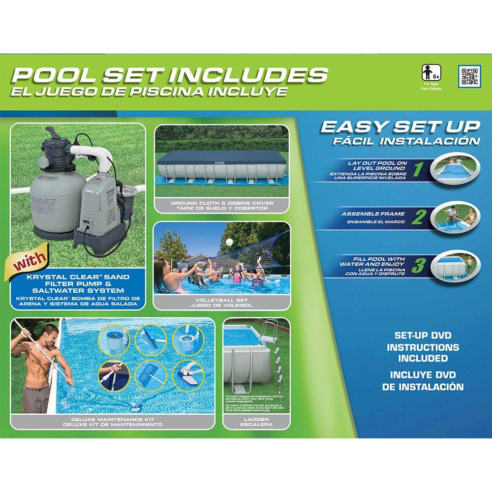 Intex 24Ft X 12Ft X 52In Ultra Frame Pool Set: Amazon.co.uk: Garden ...