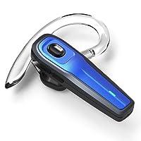Bluetooth Headset, Kabellos Kopfhörer In-Ear Ohrhörer Rauschunterdrückung Funk Bluetooth Kopfhörer mit Mikrofon Freisprecheinrichtung Headsets für iPhone Telefon Fahren Business Büro/Fahren Drahtlose Hands-free Headset (Blue_SEED)