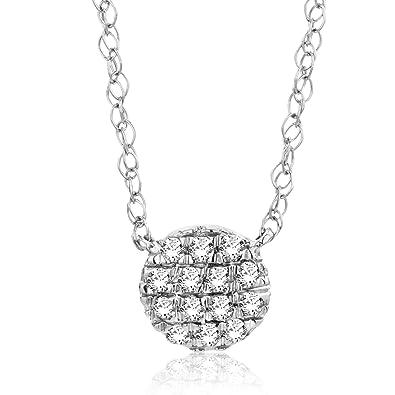 5c037e6fb746 Orovia - Conjunto de collar y colgante con cadena de oro blanco de 18 ct y