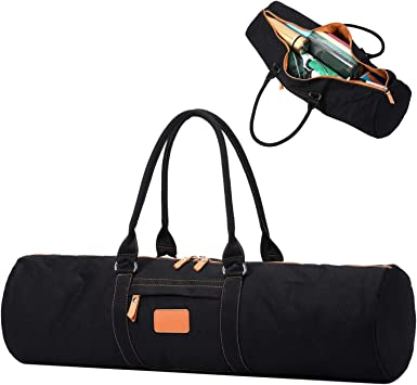 YanHao Yoga Mat Bags Canvas Yoga Mat Carrier with Zipper Pocket for Women and Men