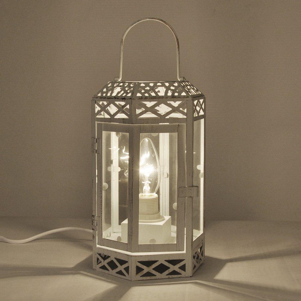 shabby chic lighting fixtures. vintage style creamdistressed metal u0026 glass shabby chic lantern table lamp amazoncouk lighting fixtures r