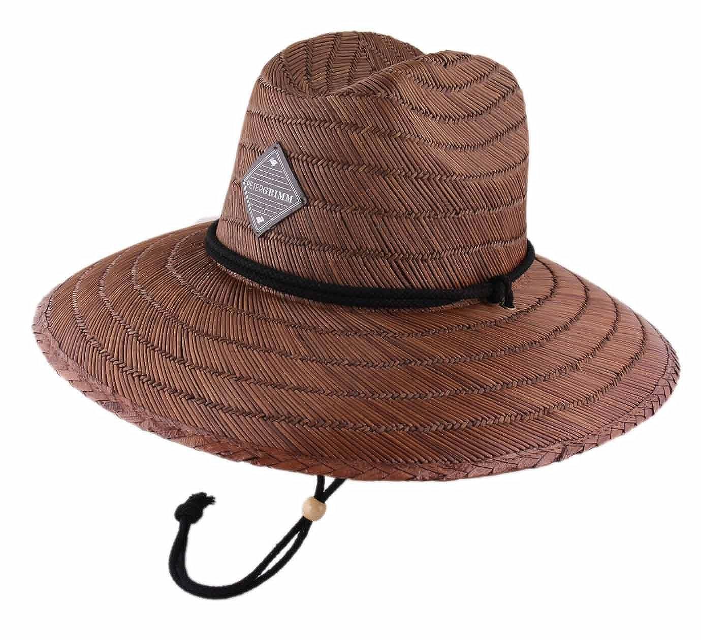 Chapeau Fedora Paille Large Bord Homme ou Femme Boho Safari Peter Grimm