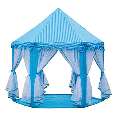 HI SUYI Kids Folding Fairy Hexagon Princess Castle Playhouse Teepee Play Tents with Breathable Net for Indoor Outdoor,Durable Bold PVC Stent,Easy Set Up,Convenient Storage: Garden & Outdoor