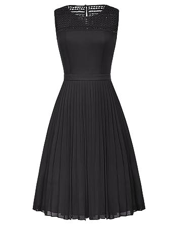 Belle Poque Womens Vintage 40s Spring Garden Picnic Dress Party Cocktail Dress Black GF461-1