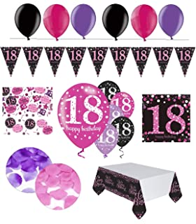 Party Deko Set 18 Geburtstag 30 Teilig Madchen Amazon De Elektronik
