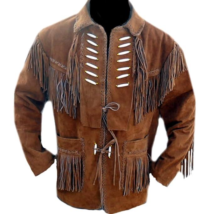 classyak occidental con una chaqueta de cuero con flecos y ...