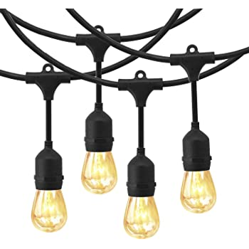 Amazon.com : EAGWELL Outdoor Commercial String Lights, 24 Feet Heavy ...