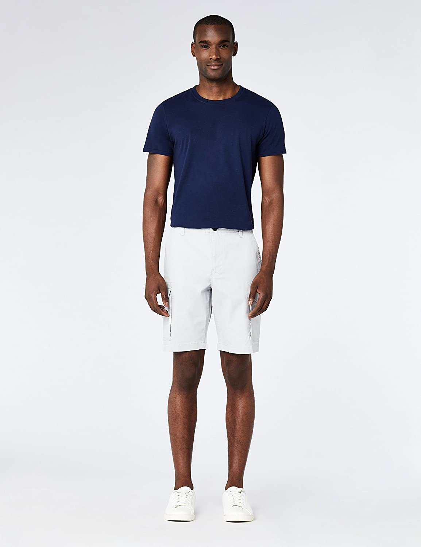 MERAKI Cotton Slim Fit Cargo-Pantaloncini Uomo Marchio