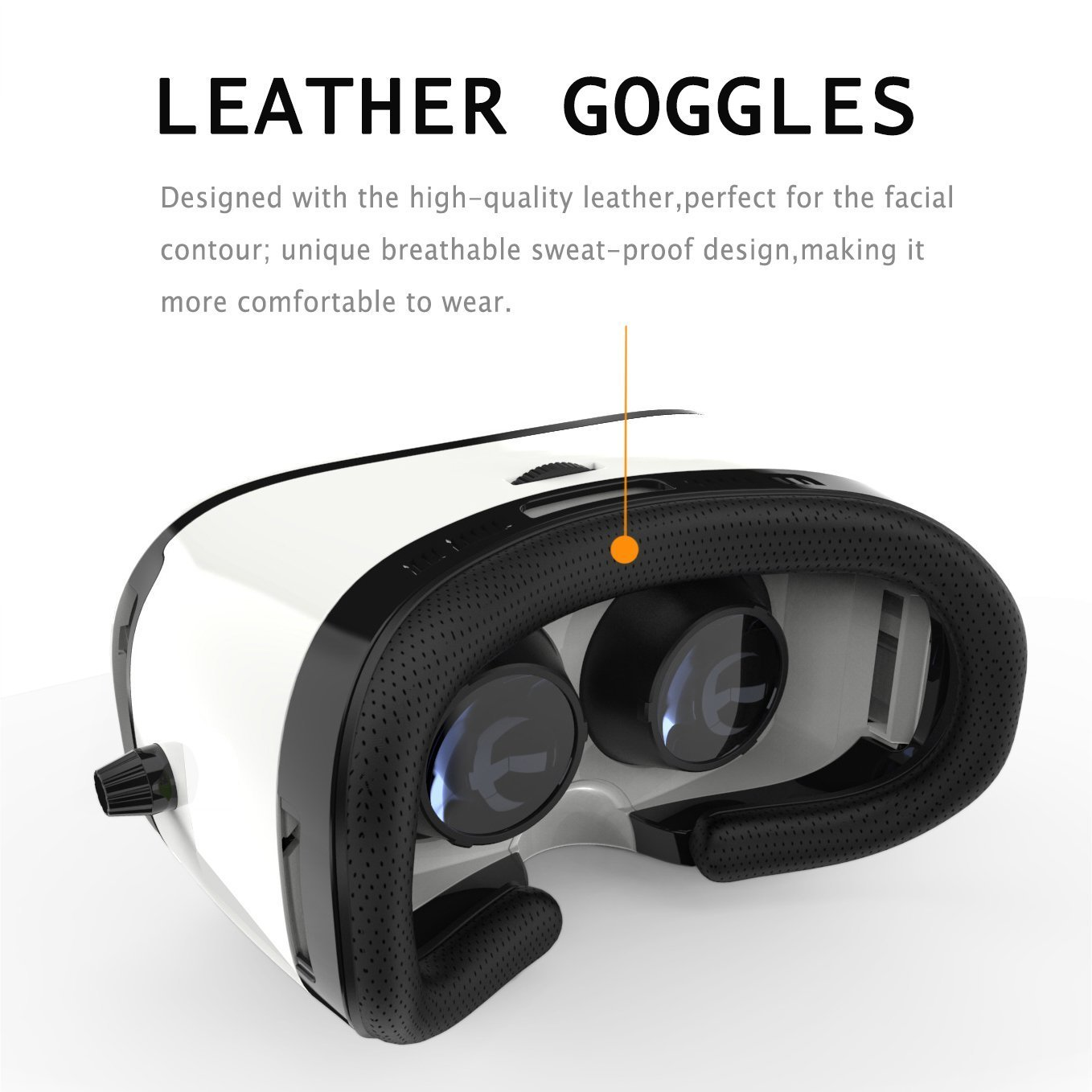 Pasonomi VR Glasses - 3D Virtual Reality Headset for iPhone 7/7 Plus/6s/6 plus/6/5, Samsung Galaxy, Huawei, Google, Moto & all Android Smartphone by PASONOMI (Image #5)