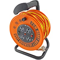 UR24025R ULTRACHARGE 25M Handyman Ext Reel with 4 Way Surge Power Board UR240/25R 25 Metre Cable, Heavy Duty Reel with…