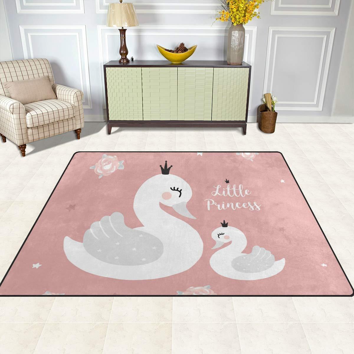 Schaumstoff Multi 160 x 122 cm Orediy Weiche Teppiche Schwan Prinzessin Mutter Baby Leichter Bereich Teppich Kinder Spielmatte Rutschfest Yoga Kinderzimmer Teppich f/ür Wohnzimmer Schlafzimmer