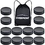 Overmont Ice Hockey Pucks, Practice Hockey Pucks, Ice Hockey Balls, Sports Fan Hockey Pucks