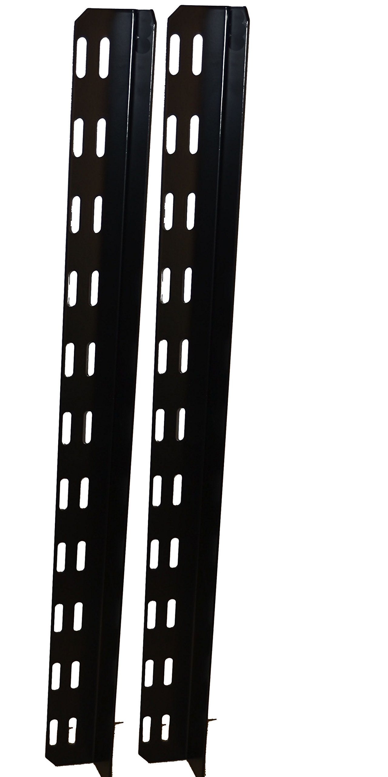 BUD Industries CSB-1354 14 Gauge Steel Chassis Support Bracket, 23'' Length x 1-45/64'' Height, Black Finish