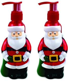 santa claus holiday hand soaps 2pk pack of 2 santa shaped dispensers with
