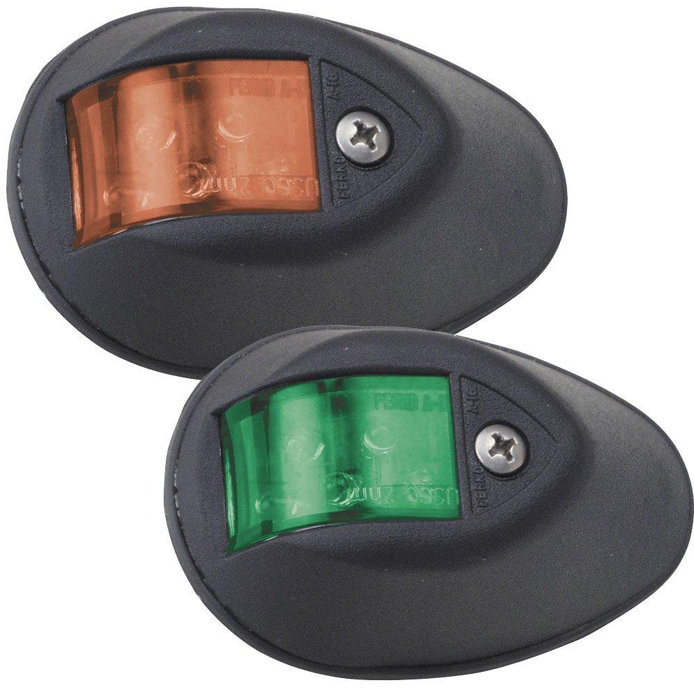Perko LED Side Lights - Red/Green - 24V - Black Plastic Housing by Perko