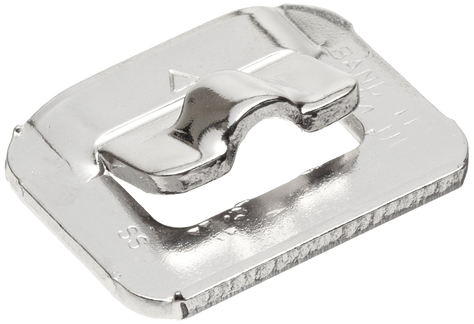 BAND-IT UB2569 Ultra-Lok 3/4'' Wide, 201 1/4 Hard Stainless Steel Buckle (Box Of 100)