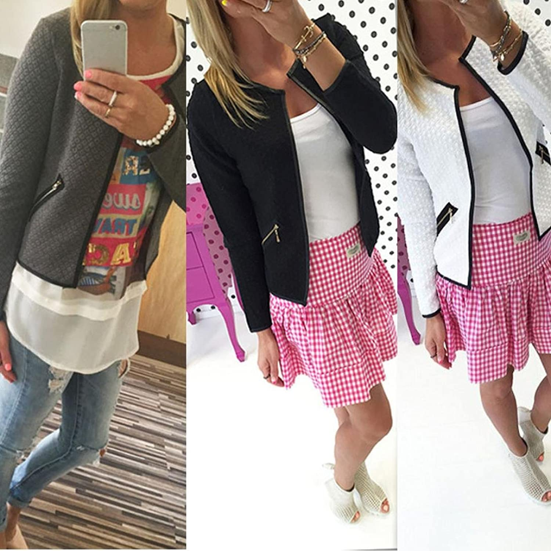 Womail Women Classic Zipper Coats Bomber Outer Jacket Coats