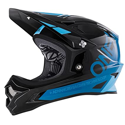 ONEAL BACKFLIP bungarra NERO BLU DH BMX Mountain Bike MTB CASCO Freeride Articoli per ciclismo