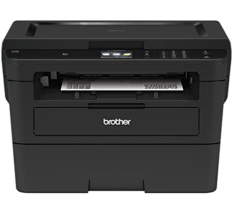 Brother Compact Monochrome Laser Printer, HLL2395DW, Flatbed Copy & Scan, Wireless Printing, NFC, Cloud-Based Printing & Scanning, Amazon Dash ...