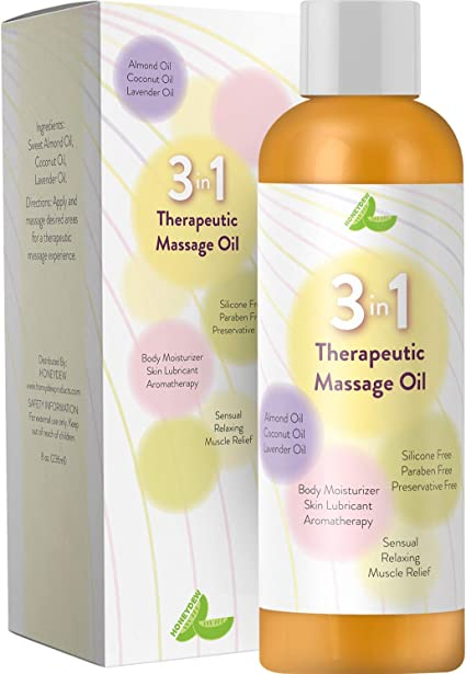 Amazon Com Aromatherapy Massage Oil For Sore Muscles 3 In 1 Sensual Massage Oil Skin Lubricant For Women Men Therapeutic Body Oil To Relax Revitalize Your Senses With Antioxidant Almond Lavender