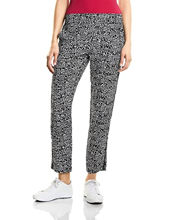 371321, Pantalon Femme, Multicolore (Black 30001), W40Street One