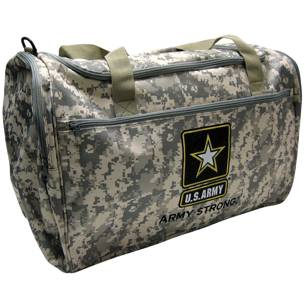 Us Military Official Licensed Duffle Gym Luggage Bag US Army Camo