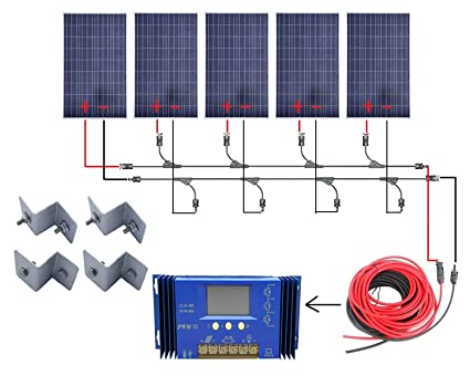 Amazon.com : ECO-WORTHY 500 Watts Complete Solar Kit Off-Grid: 5pcs