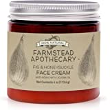 Farmstead Apothecary 100% Natural Anti-Aging Face Cream with Jojoba Oil, 4 oz (Fig & Honey)