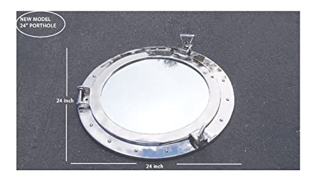 Deluxe Class Chrome Porthole Mirror 24 – Porthole – Nautical Wall Hanging