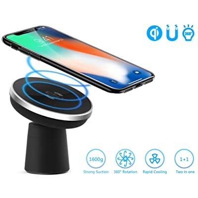 Wireless Car Charger Wannap Car Mount Air Vent Phone Holder Cradle, Charging for iPhone Xs/Xs Max/Xr/X/ 8/8+,Samsung Galaxy S10e S10 S10+ S9 S9+ S8 S8+ Note Note 8 (Magnetic Charger): Automotive