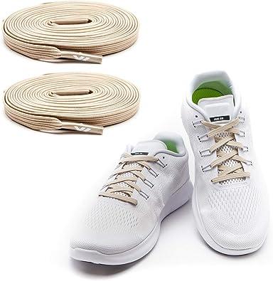 MAXX laces Cordones elásticos y planos, tensión ajustable para no ...
