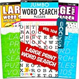 Title Large Print Word Search Books for Adults Super Set -- 6 Jumbo Word Find Puzzle Books with Large Print (Over 500…
