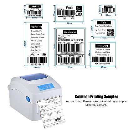 Aibecy Gprinter Impresora térmica 1D 2D QR Etiqueta con código de barras Impresión de 8 pulgadas Velocidad rápida 20-118 mm Ancho con etiqueta externa ...