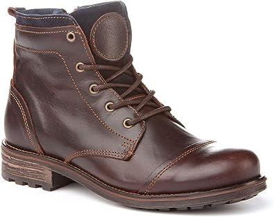 Botas Moteras de Hombre. Fabricadas en Piel y con Suela de Goma. Hechos en España. A&L Shoes Modelo 2234.: Amazon.es: Zapatos y complementos