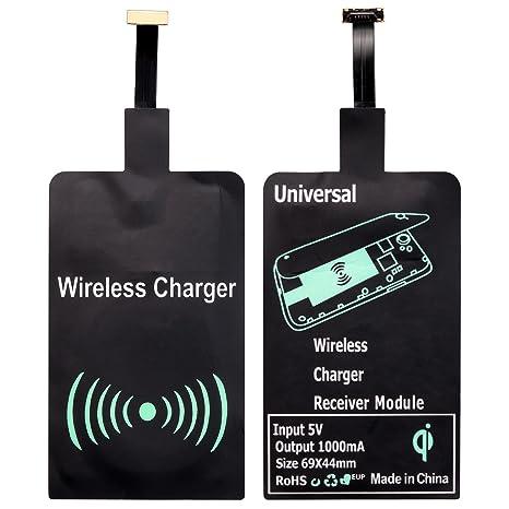 Qi receptor, qianyou universal micro USB shni ttstelle (muy fina Receptor Cargador inalámbrico Receptor de carga inductiva para Samsung Galaxy ...