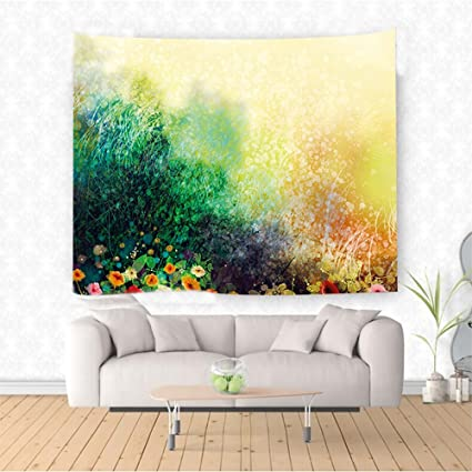Amazon Com Nalahome Watercolor Flower Flower Bed On Valley In Fall
