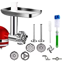 Metal Food Grinder Attachment for KitchenAid Stand Mixers, Meat Grinder Kitchen Aid Asseccories for KitchenAid,Includes…