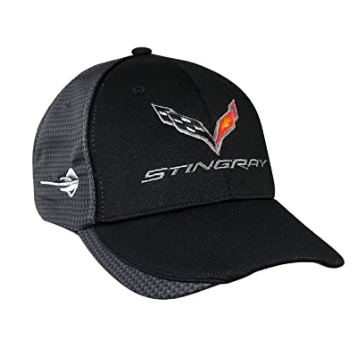 Chevrolet Corvette C7 Carbon Fiber Look Baseball Cap (Black): Automotive