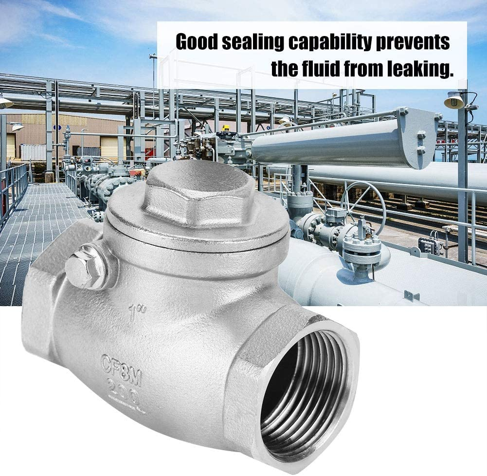 1 DN25 Stainless Steel One Way Swing Check Valve Female Thread WOG 200PSI Bracon Swing Check Valve
