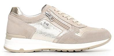 Nero Giardini Sneakers Basses Femme - Gris - Metal, 36 EU EU