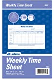 Adams Weekly Time Sheet, 1-Part, 5.5 x 8.5 Inches, Blue/White, 100 Sheets Per Pad, 2 Pack (9507ABF)