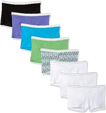 Hanes Womens Boyshort Panty Pack of 6 Assorted