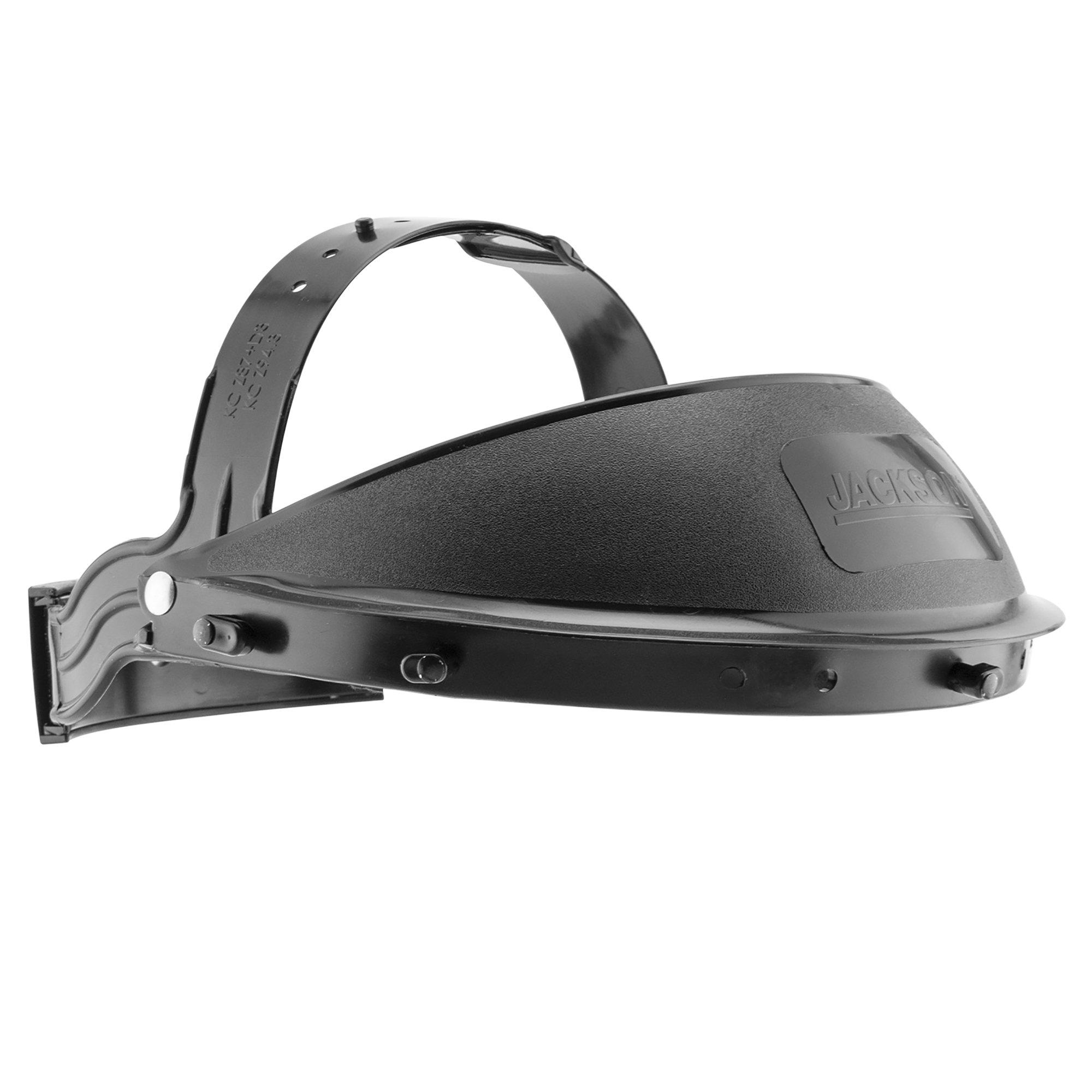 "Jackson Safety Headgear KDG10 K-Facesaver (14381), Ratchet Suspension, for 12"" or 15.5"" Face Shields, Cushioned Sweatband, Black, 12 Units / Case"