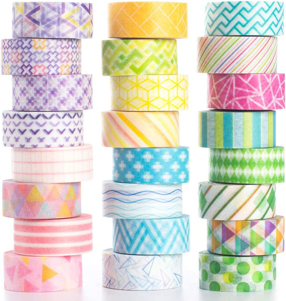 Skinny washi tape paper clips scissors and zipper decorative paper tape thin 5mm full roll Japanese masking tape 7 meters scrapbooking