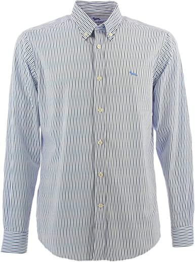 Harmont&Blaine - Camisa de rayas, color blanco azul 3XL: Amazon.es: Ropa y accesorios