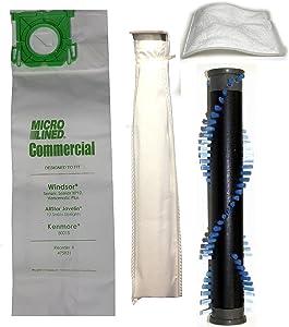 Windsor Sensor S12 Repair Package Bundle - 4 Items (Both Filters, Bags & Brush Roll)