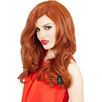 ALLAURA Jessica Rabbit Long Orange Red Sultry Costume Wig