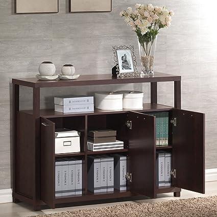 Amazon Acme 08278 Hill Cabinet With Three Doors Espresso
